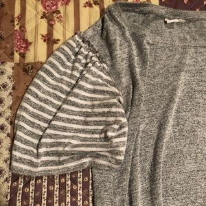 GAP Super Soft Striped Balloon Sleeve Tee, Size M